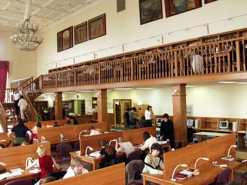 Читальный зал библиотеки РГГУ - Фото 15448/66