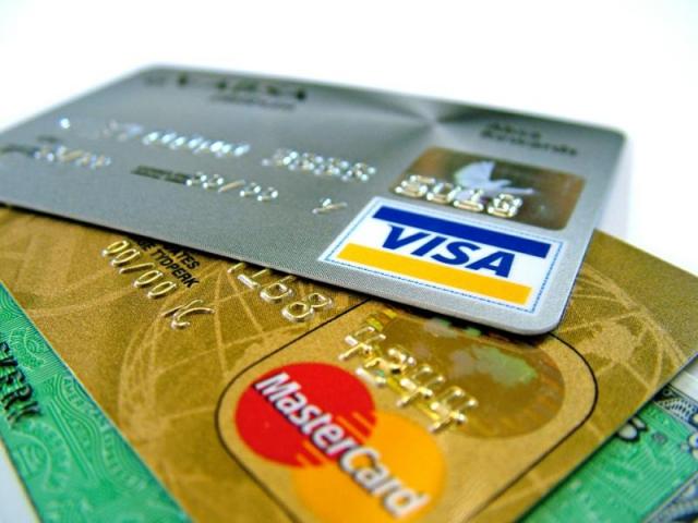 Visa and MasterCard.