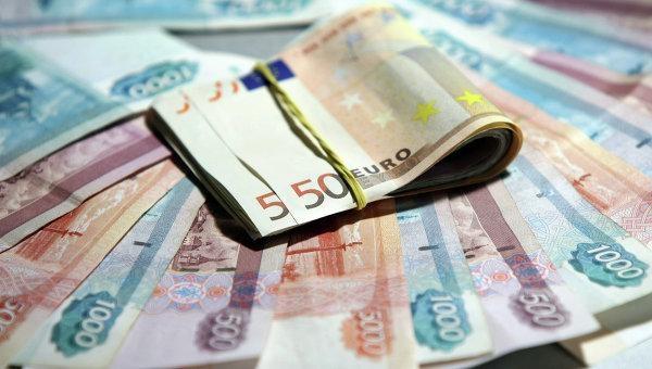 Биржевой курс евро вырос до77 руб