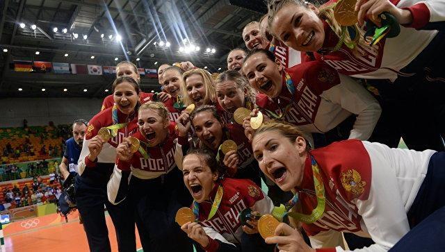 Российские гандболистки— Олимпийские чемпионки Рио