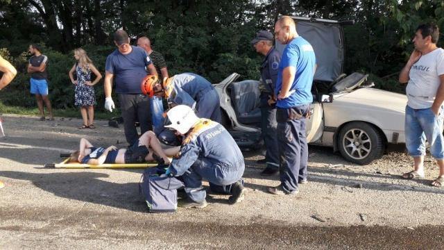 ВГулькевичском районе столкнулись два автомобиля: четверо пострадавших
