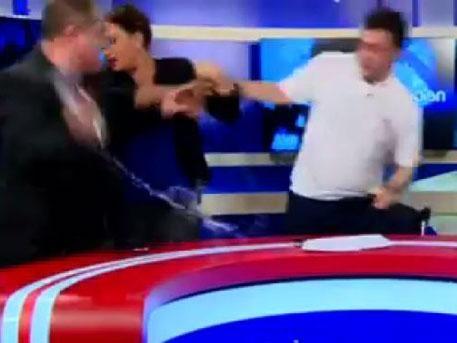 ВГрузии впроцессе дебатов подрались два кандидата впарламент
