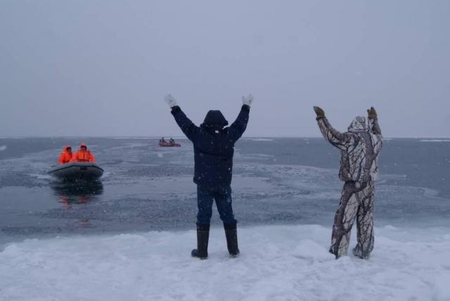 ВЧувашии дюжина человек оказалась надрейфующей льдине всередине Волги