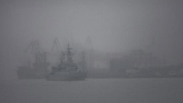 Переправа вКрым остановилась из-за тумана