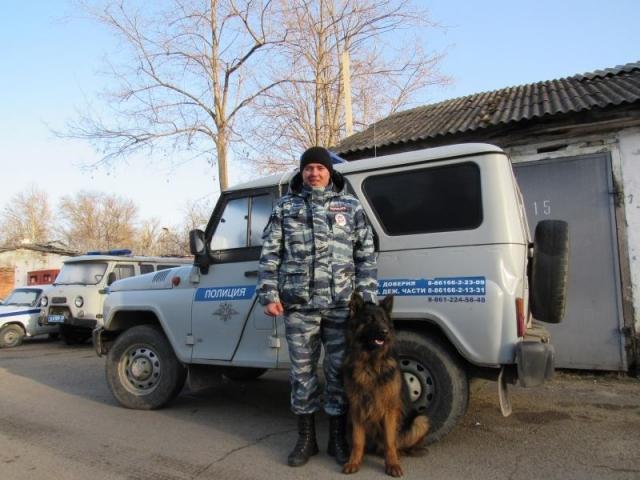 ВСеверском районе Краснодарского края служебная собачка помогла раскрыть дело окраже