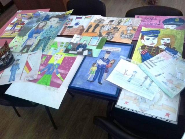 ВВыксунском ОМВД прошёл конкурс рисунков «Мои родители работают вполиции»
