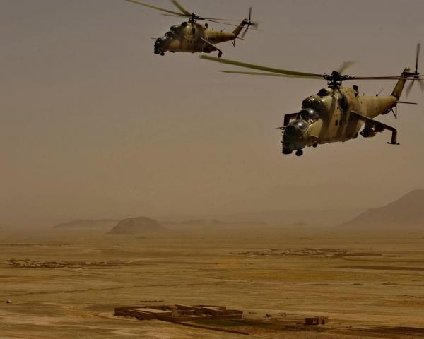 Русский вертолет Ми-24 упал вСирии, есть жертвы