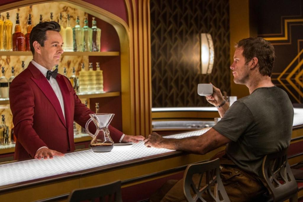 Джим мирится с тем, что единственным его собеседником на предстоящий век станет говорящий андроид-бармен Артур
