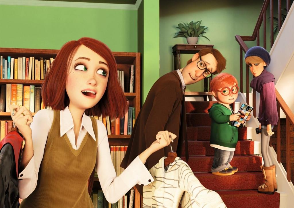 Эмма тщетно пытается объединить членов своей семьи для похода на празднование Хеллоуина