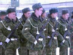 утром сослали в Сибирь нашего декабриста.  Гвардии рядового бойца ВДВ.