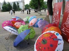 В Краснодаре состоялась акция для детей «Веселые зонтики»