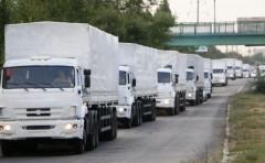 Грузовики с гуманитарной помощью из РФ выехали в сторону Луганска