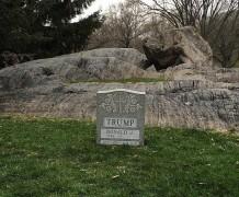 Могила Дональда Трампа появилась в Центральном парке Нью-Йорка