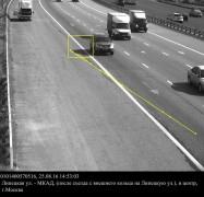 В Москве водителя оштрафовали за тень автомобиля на сплошной полосе