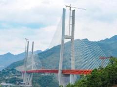 В Китае появился самый высокий навесной мост в мире
