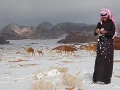 В Сахаре впервые за 37 лет выпал снег