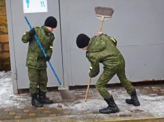 Ставропольские кадеты приняли участие в уборке территории источника Серафима Саровского