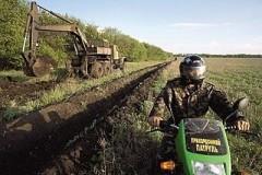 Украина остановила строительство стены на границе с Россией