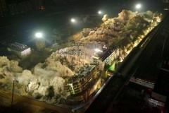 В Китае за 10 секунд взлетело на воздух 19 зданий