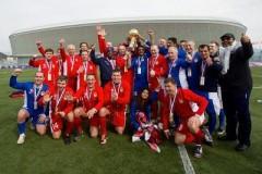 Сборная SOCHI 2017 обыграла сборную мира в товарищеском футбольном матче Военных игр