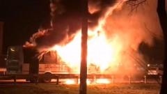 Пассажирский автобус загорелся и взорвался в Краснодаре