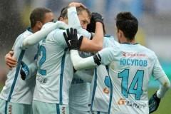 Футболисты питерского «Зенита» обыграли казанский «Рубин» со счетом 2:0