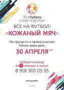 В Краснодаре состоится турнир по дворовому футболу «Кожаный мяч»