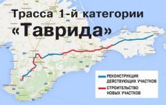 В Крыму начали строить новую федеральную трассу «Таврида»