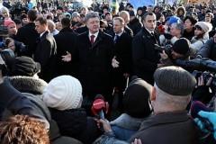 На митинге в Киеве освистали Порошенко