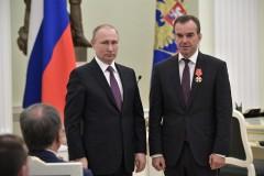 Владимир Путин вручил Вениамину Кондратьеву орден Александра Невского