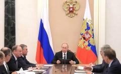 Владимир Путин в Москве провёл оперативное совещание с постоянными членами Совета Безопасности