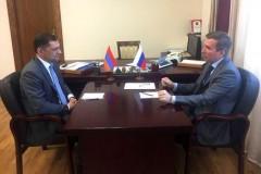 Вице-губернатор Ростовской области Игорь Гуськов встретился с генеральным консулом Армении