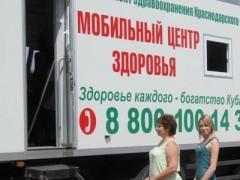 В Краснодаре пройдет профилактический осмотр горожан на базе Мобильного Центра здоровья