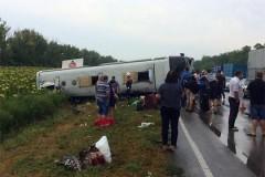 В ДТП с двумя автобусами в Казахстане пострадали 45 человек