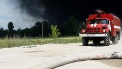 Под украинской Винницей загорелся склад с боеприпасами