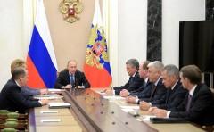 Владимир Путин провёл совещание с постоянными членами Совета Безопасности