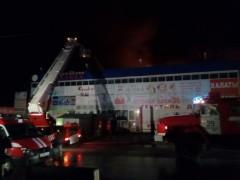 Пожар в Ростове-на-Дону уничтожил  6 тысяч квадратных метров рынка