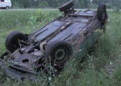 В Городовиковском районе Калмыкии опрокинулся автомобиль, есть пострадавшие