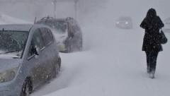 На юг Сахалина пришел мощный снежный циклон