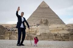 В Египте встретились рекордно высокий мужчина и самая маленькая женщина