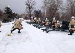 В Волгограде артиллеристы приступили к тренировкам праздничного салюта в честь Дня защитника Отечества