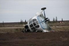 В Чечне при крушении вертолета Ми-8 выжили два человека