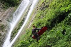 Сочинские спасатели провели тренировку на скальном участке Ореховского водопада
