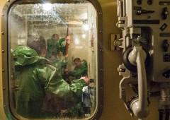 На подводной лодке «Новороссийск» проходят тренировки по борьбе за живучесть