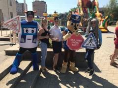 На Ставрополье полицейские устроили анимационное шоу по безопасности дорожного движения