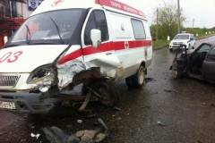 Под Горячим Ключом автомобиль скорой помощи попал в ДТП