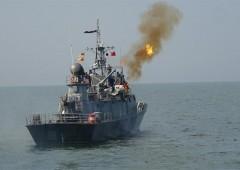 Ракетные корабли Каспийской флотилии провели артиллерийские стрельбы