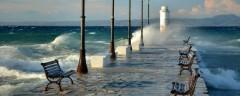 В Греции из-за штормового ветра затонули четыре судна