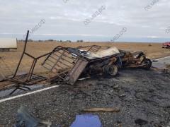 В Калмыкии при ДТП погибли пассажир и водитель загоревшейся «ГАЗели»