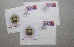 В честь Краснодарского высшего военного училища в почтовое обращение вышла карточка с оригинальной маркой